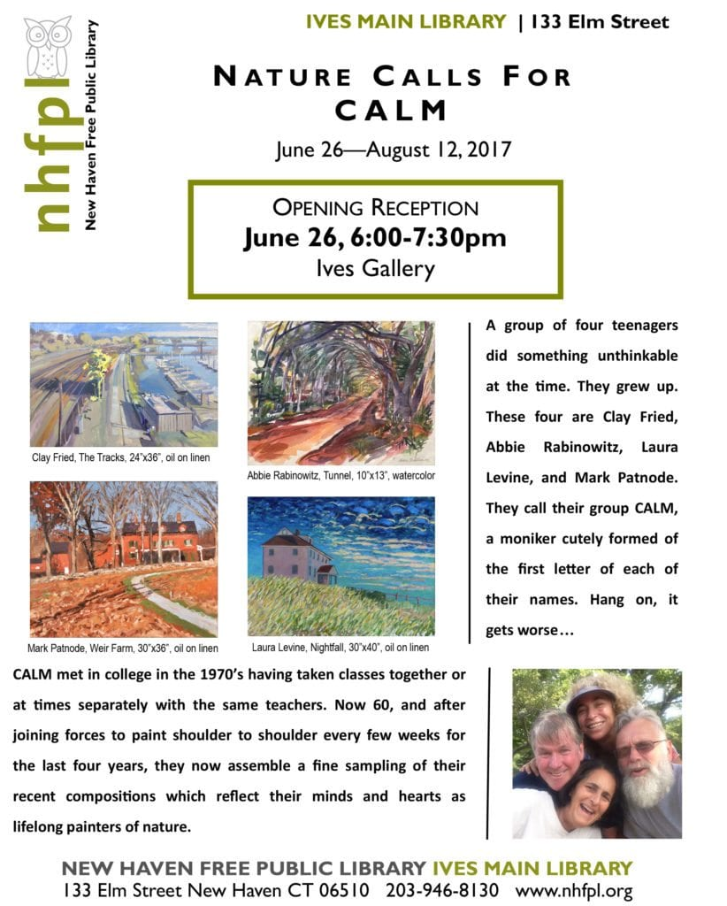 CALM flyer for Library Ives Gallery