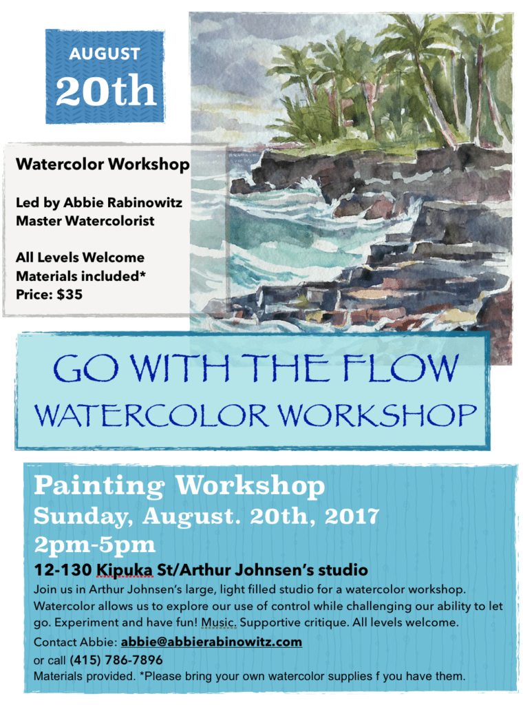 Watercolor Workshop in Hawaii