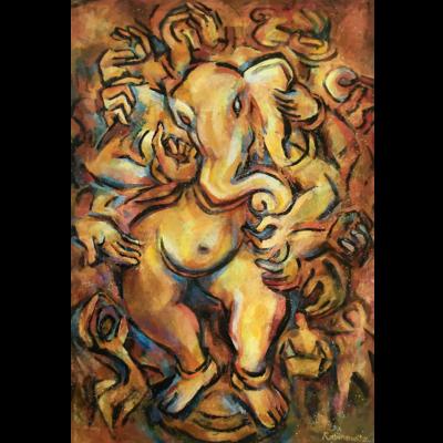 Ganesha, giclee print