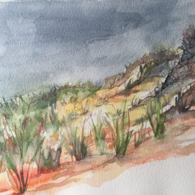 "Cape Cod Dunes, watercolor, 9""x12"".jpg"