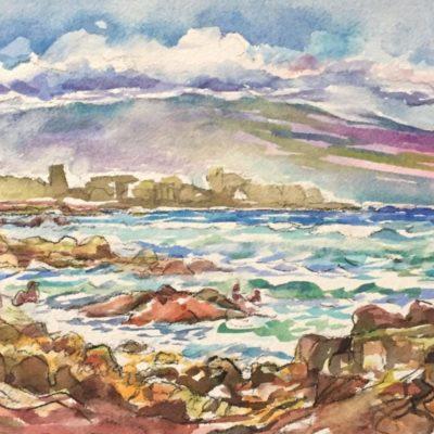 Mauna Loa, watercolor,10x14