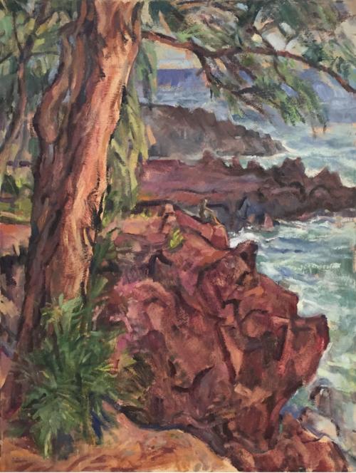 Ironwood Trees, oil painting