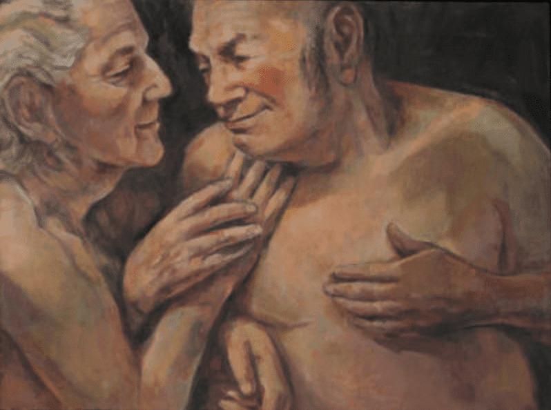 """Gaze, oil on canvas, 18"""" x 24"""""""