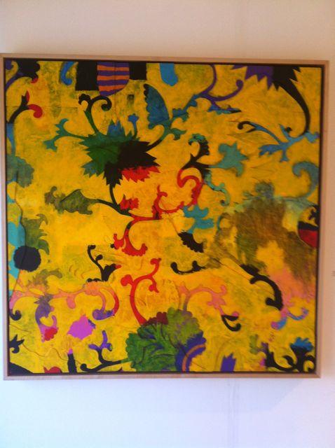 decorative yellow painting