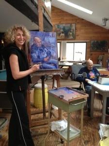 Abbie painting Harold