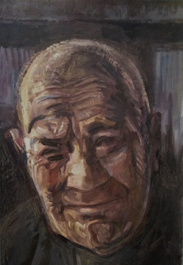 Oil painting ot the artist's father