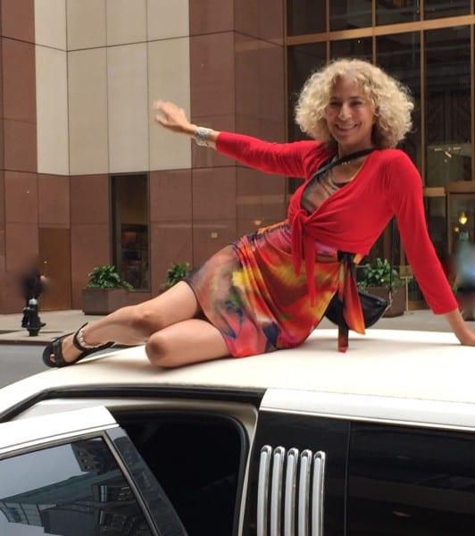 Abbie Rabinowitz on limo