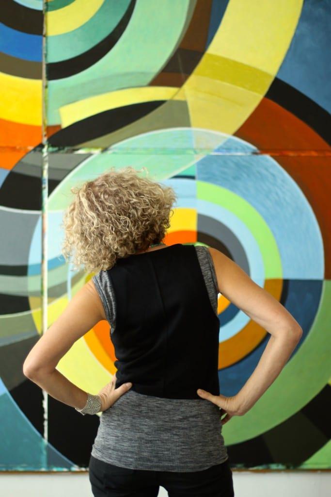 Abbie facing mural