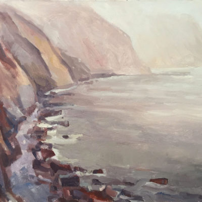 Big Sur Coast #2, oil on board, 12x16