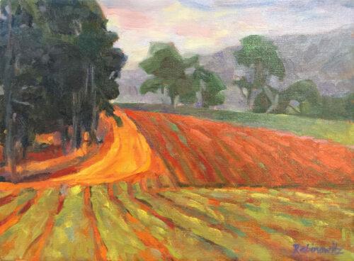 California Hill,oil on canvas, 9x12