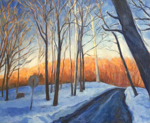 Clark Road, oil on canvas, 24x30