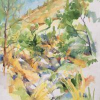 Harbin Hills, watercolor, 13x10