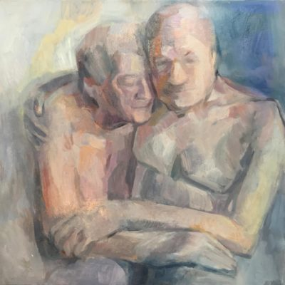 Timeless Lovers, oil on canvas, 20x20