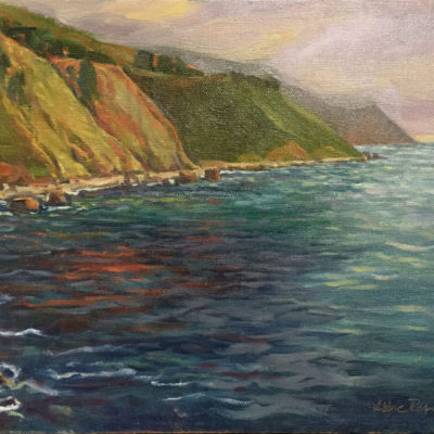 Pacific Coast, oil on canvas, 9x12