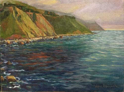 Pacific Coast, oil on canvas, 9x12