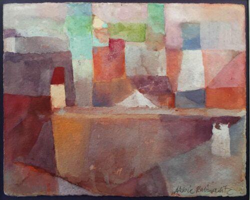 Perugia, gouache on paper, 5x6