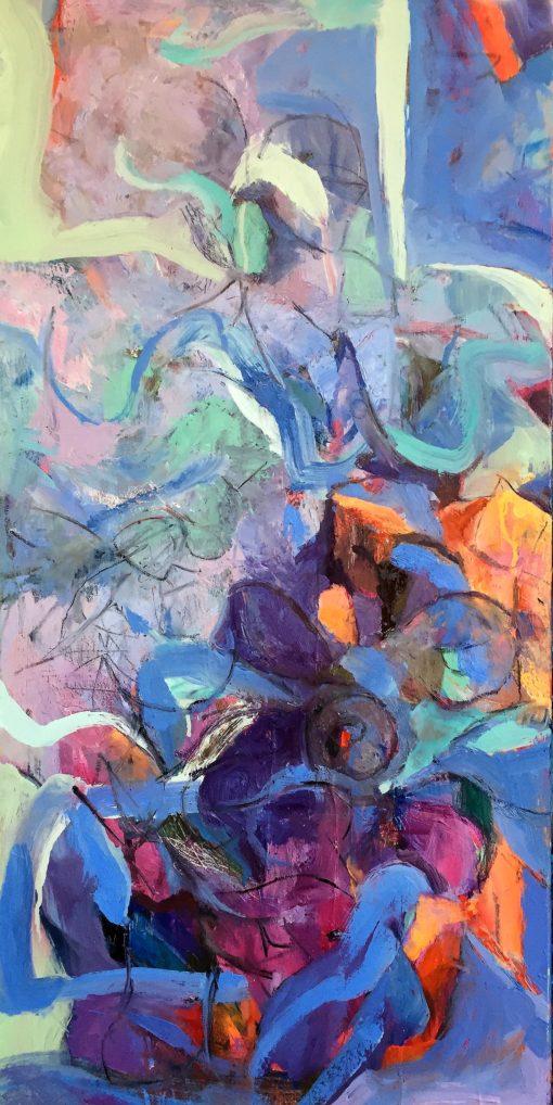 Princess Room, oil on canvas, 36x18