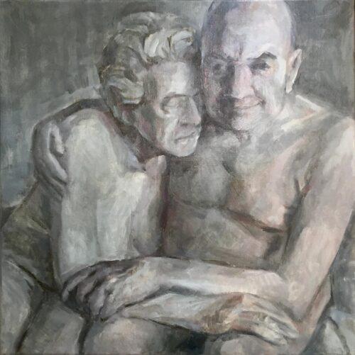 Endurance, oil on canvas, 18x18