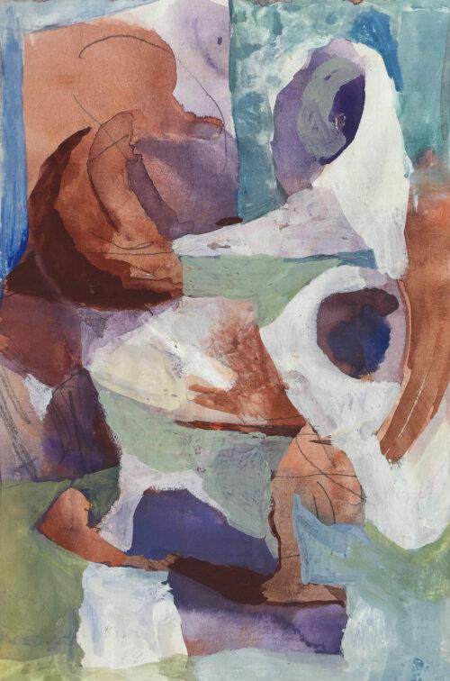 Roundabout, gouache on paper, 7.5x5