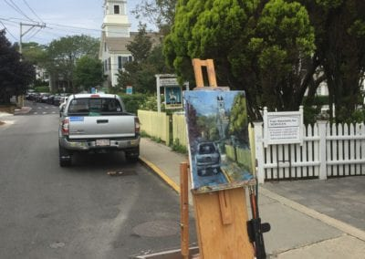 pleinair painting in Provincetown