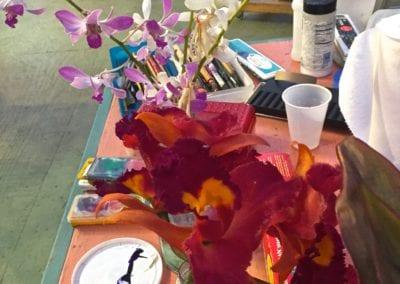 orchid still life