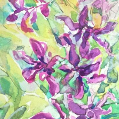 Day 1 Orchids painting
