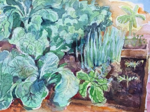 Collards watercolor