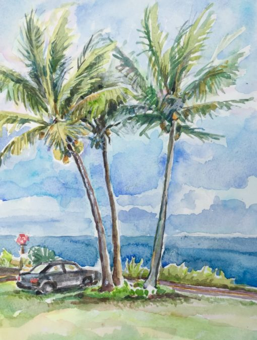 Seaview Lawn watercolor