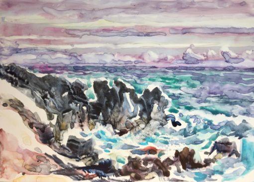 Day 5 Lava Cliff watercolor