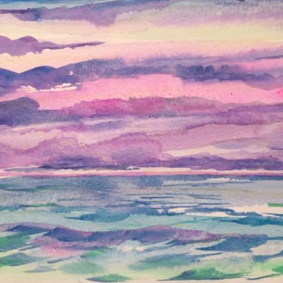 Before Dusk watercolor