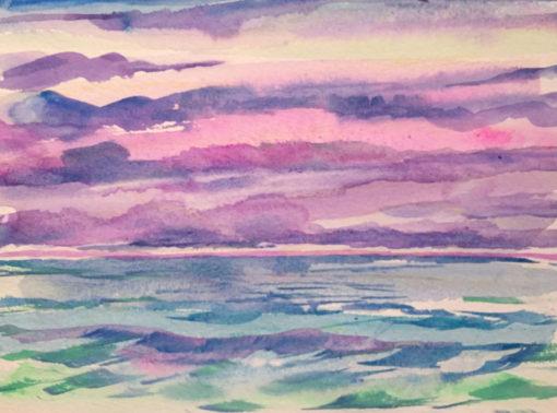 Before Dusk watercolor