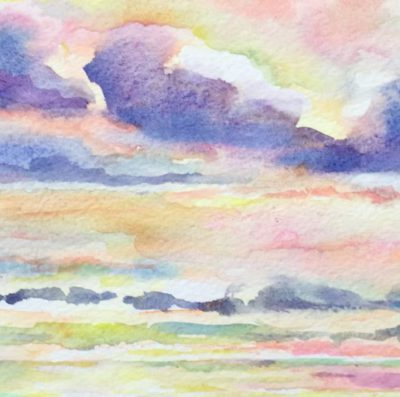 Pastel Sunrise watercolor