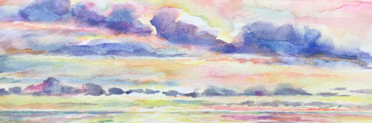 Pastel Sunrise watercolor