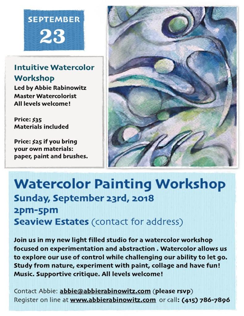 Sept 2018 watercolor workshop