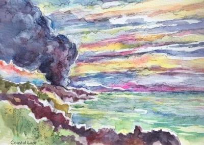 Coastal Laze painting