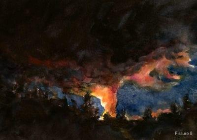 Fissure 8 watercolor