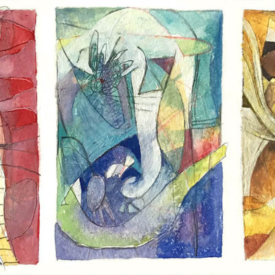 Abstract triptych small