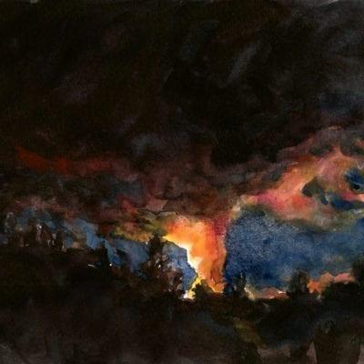 Fissure 8 Nocturn watercolor