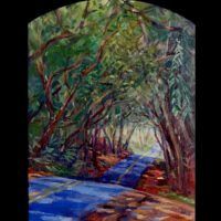 Portal oil painting