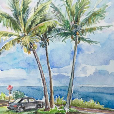 Seaview Lawn watercolor