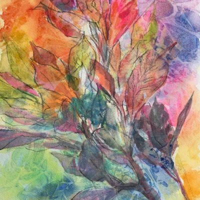 Croton watercolor