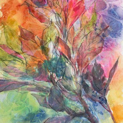 Croton watercolor