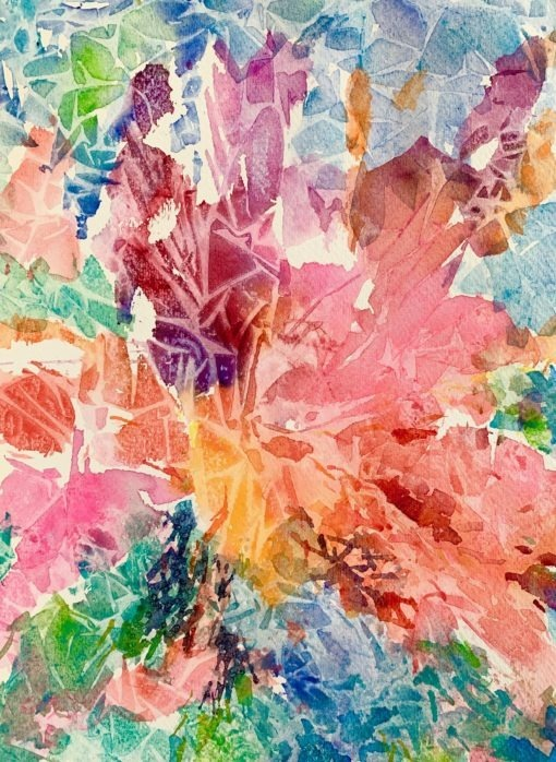 Cotton Candy watercolor
