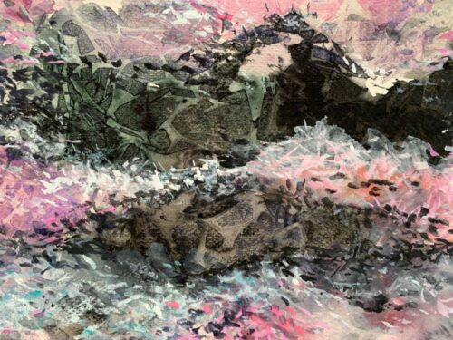 It comes in waves watercolor abstract