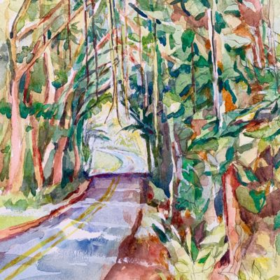 Vines Overhead watercolor
