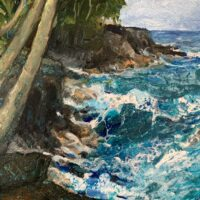 Choppy Seas oil painting
