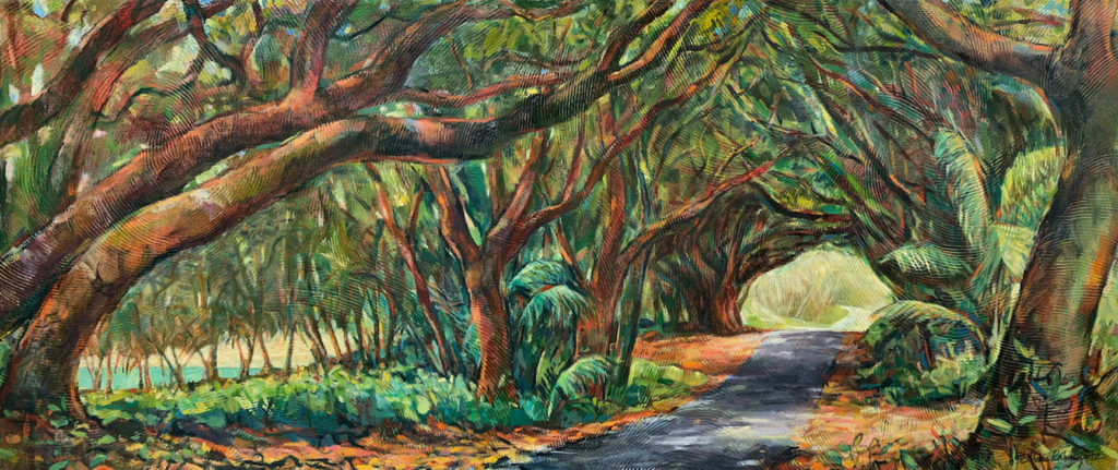 Ke ala ʻula, landscape painting