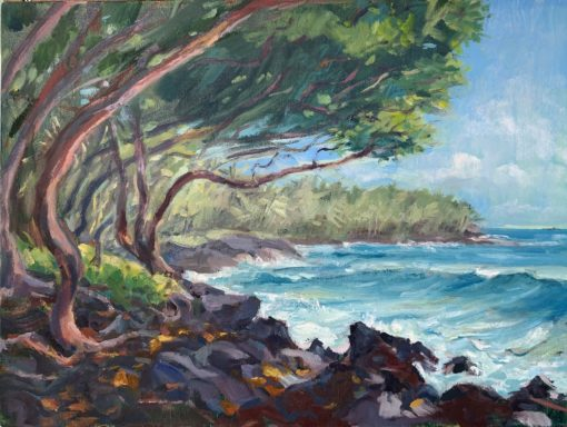 Opihikao Day oil painting