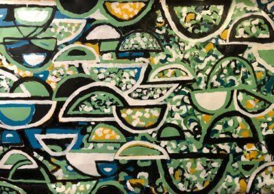 John painting repetitive shapes