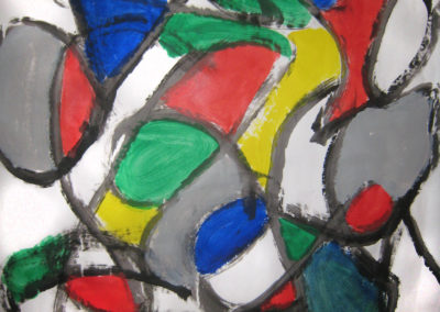 Kieran repetitive shape painting